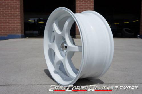 """16"""" white AVV alloy wheel"""