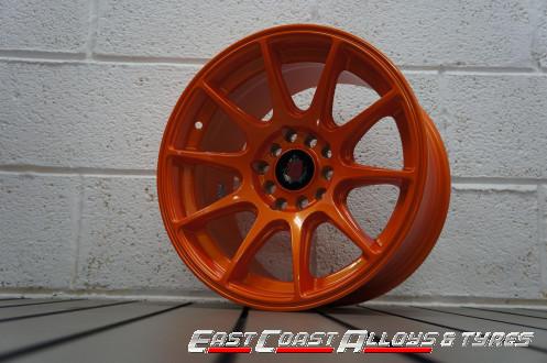 Axe EX8 alloy wheels orange