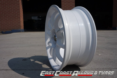 White STR 219 alloy wheels