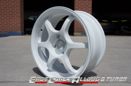 "image of 16"" white alloy wheel"
