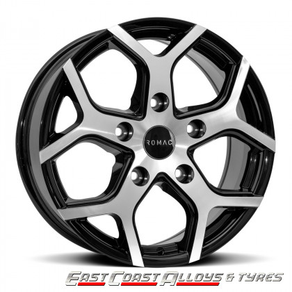 "ROMAC COBRA 18"" VAN ALLOY BLACK POLISHED FRONT"