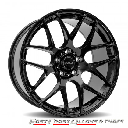 ROMAC RADIUM GLOSS BLACK ALLOY WHEEL